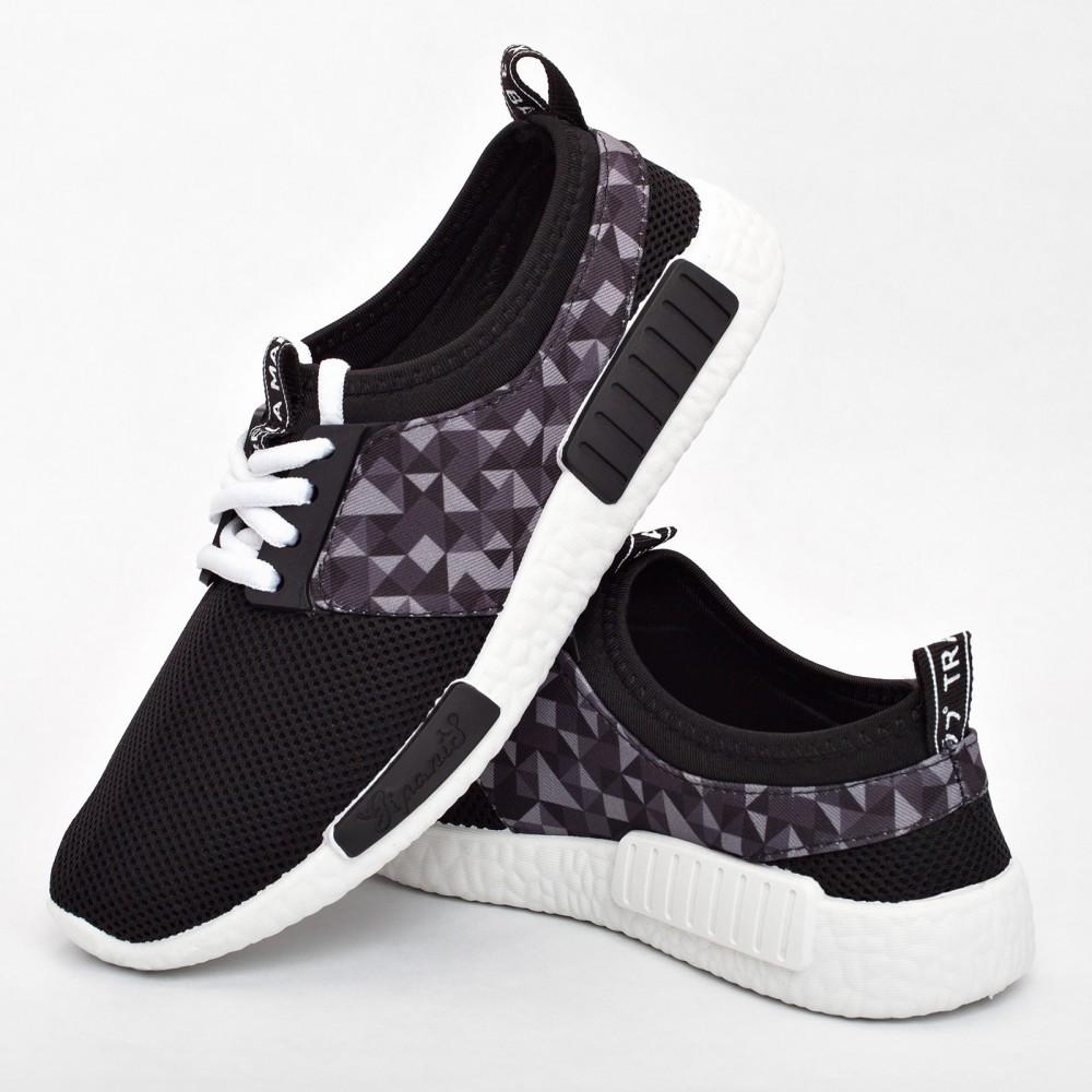 Женские кроссовки черные (Код: 2010)