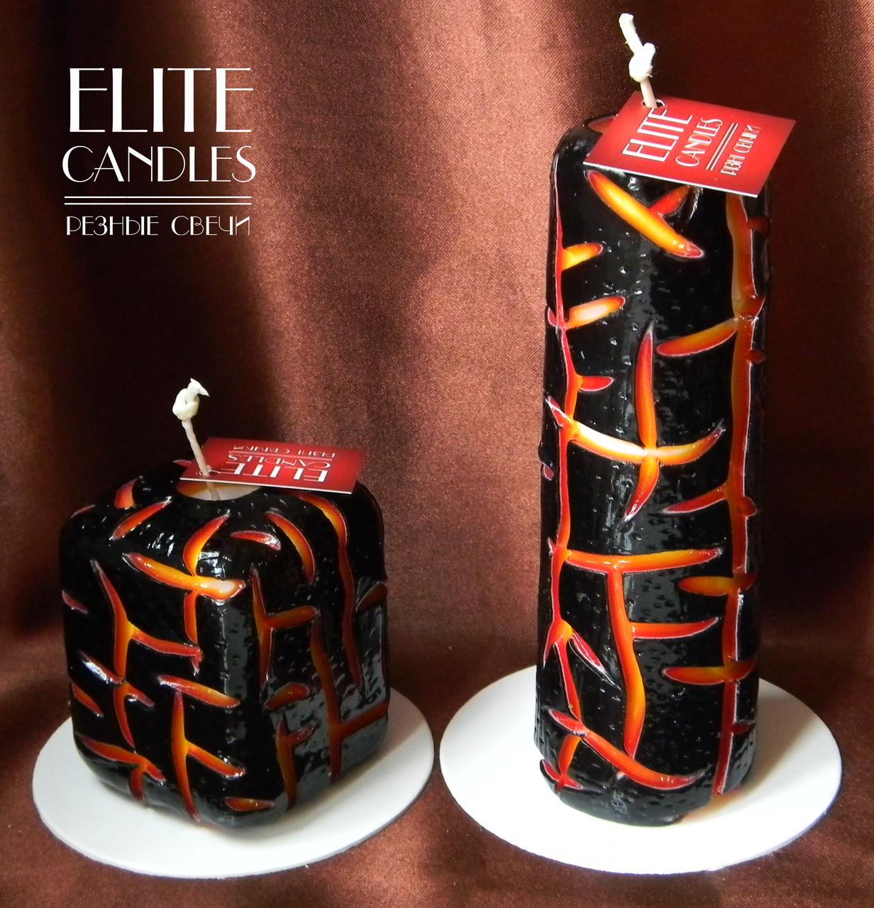 Декоративні свічки ELITE CANDLES - ручна робота, власний дизайн, оригінальні кольори