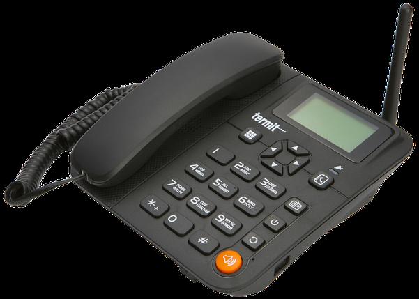 Телефон GSM для пожилых людей Termit FixPhone V 2 с русским языком и большими кнопками, фото 2