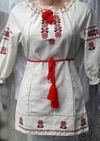 Вышитое платье для девочки из льна