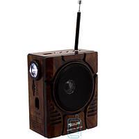 Радиоприемник GOLON RX-188MIC коричнево-черный