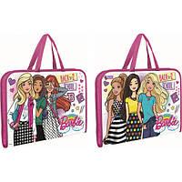 Папка-портфель 1 Вересня Barbie на блискавці з тканинними ручками 491140