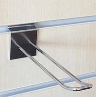 Крючок двойной  хромированный 150 мм для экономпанели, фото 1