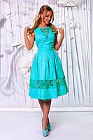 Платье Беби-Дол миди на подъюпнике ментоловое