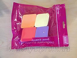 Спонжик для лица 4 штуки в упаковке