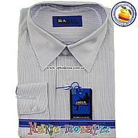 Рубашки в мелкую полоску с длинным рукавом для мальчиков от 7 до 15 лет (Ворот: 28- 36) (vr72-2)