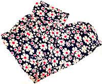 Капри летние c карманами, широким поясом и манжетами размер №6
