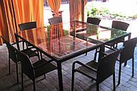 Комплект мебели для кафе из искусственного ротанга плетеный