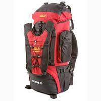 Рюкзак туристический на 70 литров JACK WOLFSKIN Extreme 70 (красно-черный)