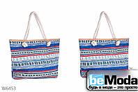 Пляжная сумка с этническим принтом Kiss Me синяя