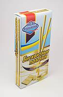 Бисквитные палочки в белом шоколаде 32 г. (50 шт. в пачке)