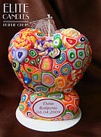Свеча в форме сердца (свеча сердце) ELITE CANDLES для декора или подарка с надписью