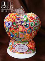 Свічка у формі серця (свічка серце) ELITE CANDLES для декору або подарунка з написом