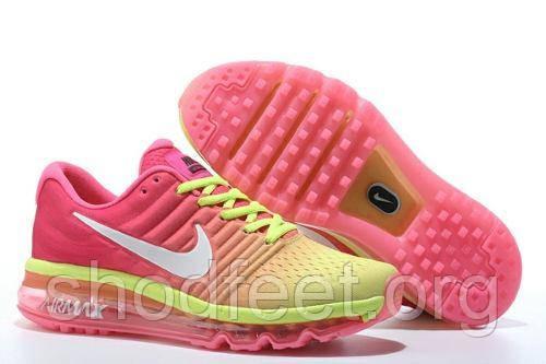 Кроссовки женские Nike Air Max 2017 Pink Yellow