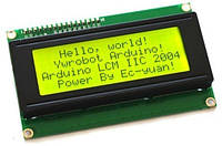 LCD2004 20 символов 4 строки ЖК модуль дисплей Arduino - желтая-зеленая подсветка
