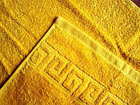 Полотенце махровое Туркменистан 40х70 темно-желтое