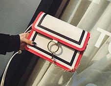 Fashion сумка клатч с кольцом и цепочкой, фото 2