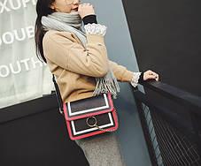 Fashion сумка клатч с кольцом и цепочкой, фото 3