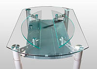 Стеклянный стол обеденный D-647 комби