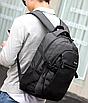 Рюкзак Meijieuo городской с выходом для кабеля унисекс черный, фото 3