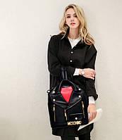Супер оригинальный рюкзак куртка-косуха, MOSCHINO