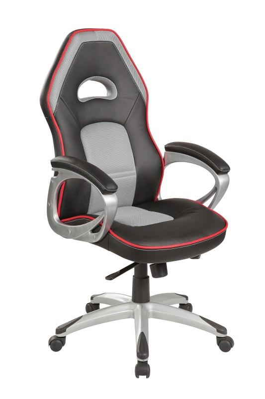 Кресло офисное Q-055 ( черно серый) (Signal)