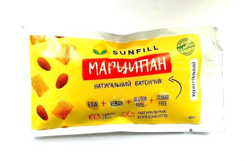 """Батончик """"Марципан"""" Sunfill 40г"""