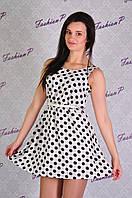 Платье горох ZL-6062 (белый), фото 1