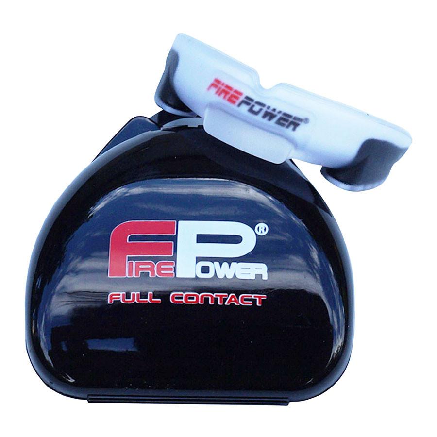 Капа боксерская FIREPOWER Gel Orion White/Black