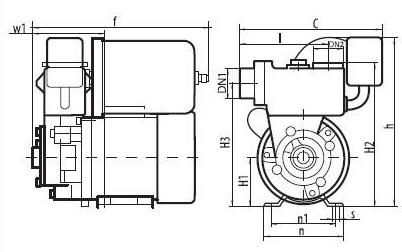 Бытовая насосная станция «Насосы + Оборудование» AUPS 226 размеры