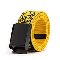 Текстильный ремень для джинсов хип-хоп желтый