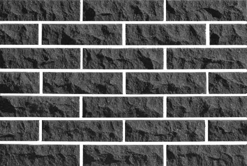 Плитка фасадная LAND BRICK скала черная 250х20х65 мм
