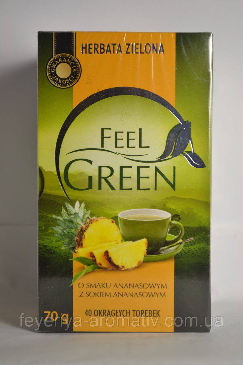 Чай зеленый Feel Green со вкусом ананаса , 40 пак