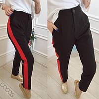 Женские модные брюки брюки с лампасами  НИс1042