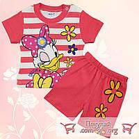 Летний костюм с мультяшкой для девочек Рост:68-74-80 см (5351-2)