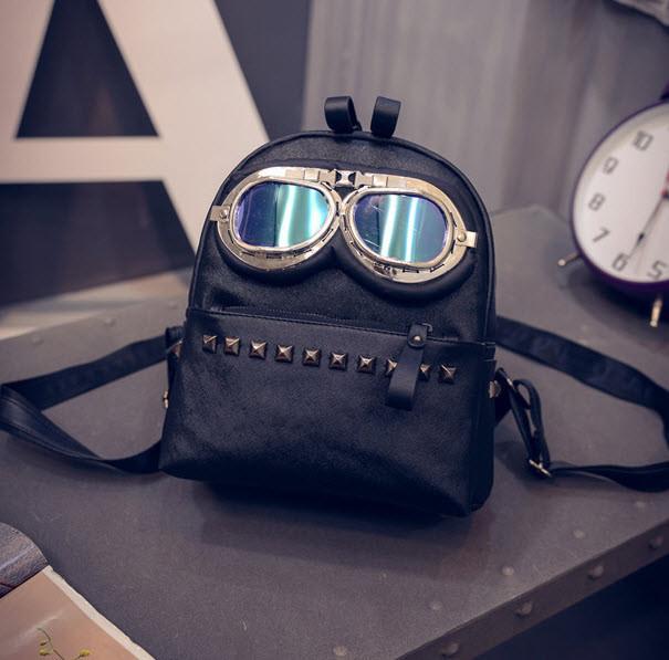 Оригинальный рюкзак пилот с очками
