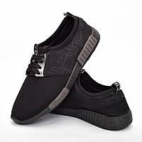 Мужские кроссовки черные (Код: DRM-300)