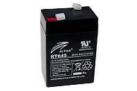 Свинцово-кислотная аккумуляторная батарея AGM RITAR RT645,  6V 4.5Ah  (70х47х107 мм) Q20