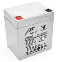 Свинцово-кислотная аккумуляторная батарея AGM RITAR RT1250, Gray Case, 12V 5.0Ah Q10