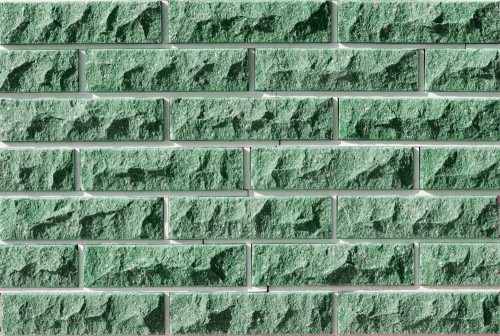Плитка фасадная LAND BRICK скала зеленая 250х20х65 мм