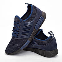 Мужские кроссовки синие (Код: DRM-301)