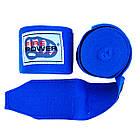 Бинты боксерские эластичные Firepower FPHW3 Синие, фото 3