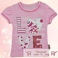 Розовая футболка для малышей Рост:62-68-74-80 см (5356-2)