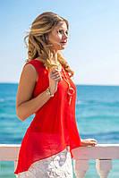 Комбинированное женское платье мини асимметричного фасона с украшением стрейч турецкий жаккард шифон Турция
