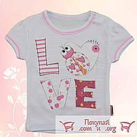Белая футболка для малышей Рост:62-68-74-80 см (5356-4)