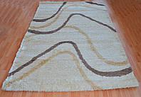 Ворсистый ковёр Shaggy 9100 бежевый прямоугольный