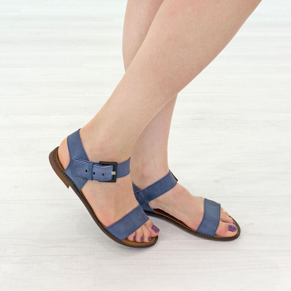 Босоножки Woman's heel 38 синие (О-794)