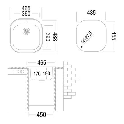 Кухонная мойка UKINOX GA*465.488 GT 6K( Decor) Турция, фото 2