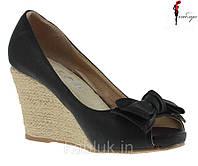 Модные туфли на платформе украшенные бантом! Очень удобные!, фото 1