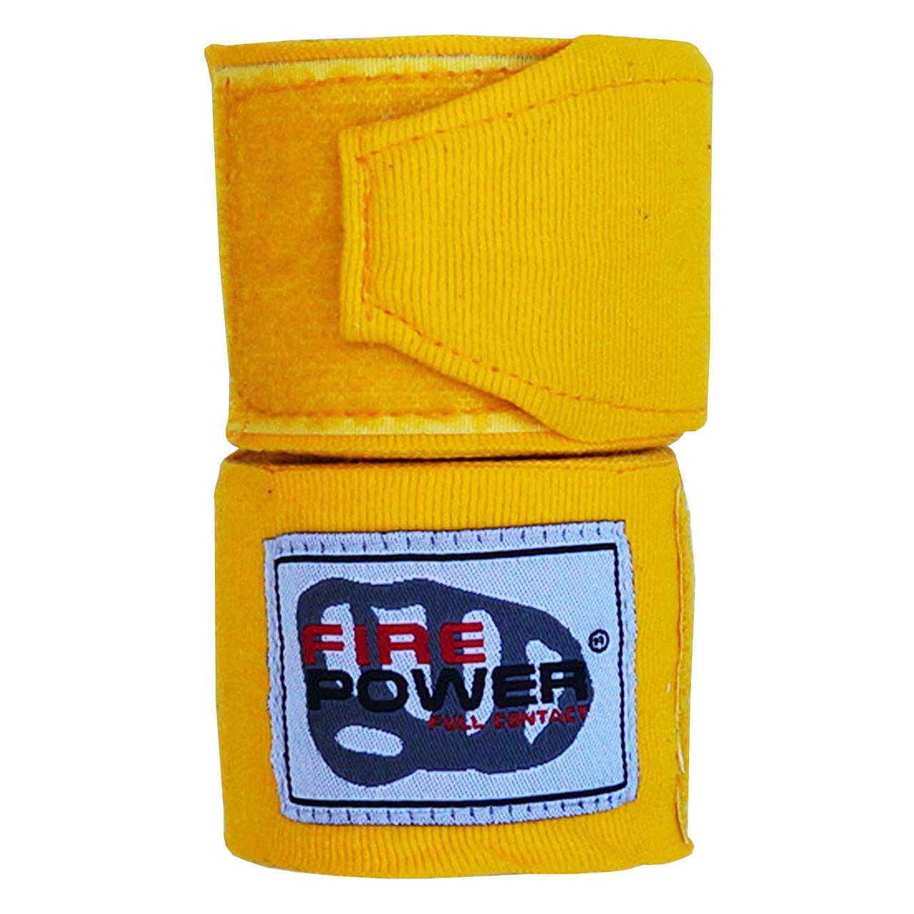 Бинты боксерские эластичные Firepower FPHW3 Желтые